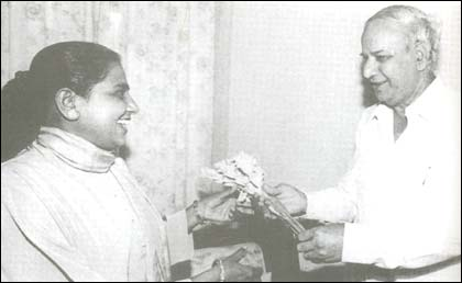kanshi ram and mayawati relationship test