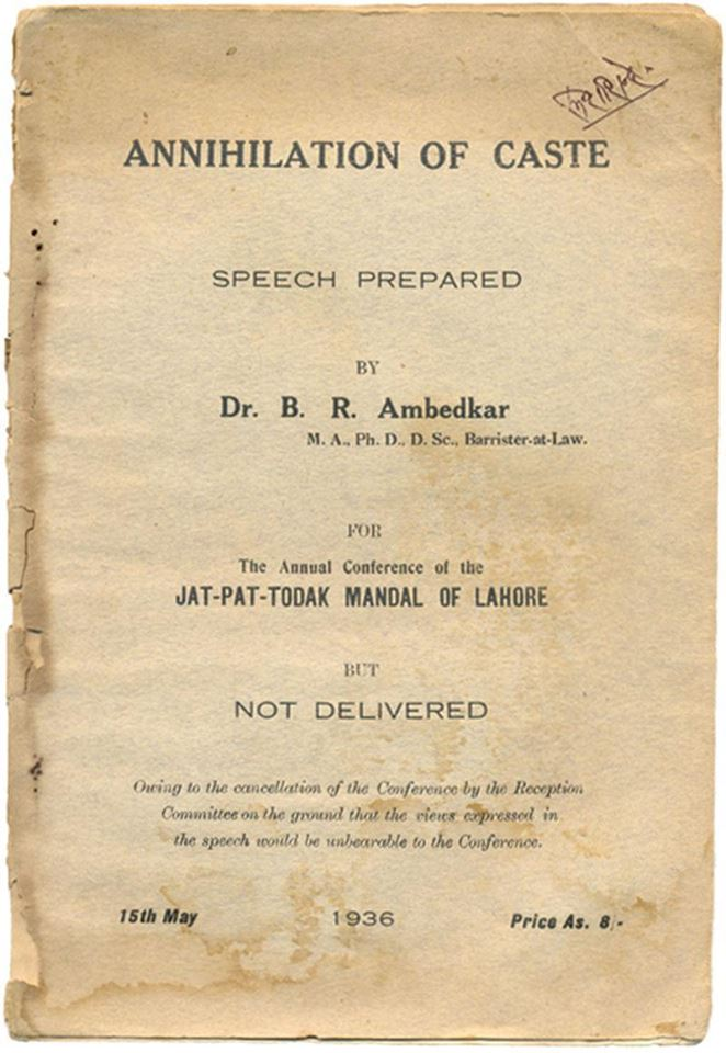 annihilation of caste by ambedkar pdf free download