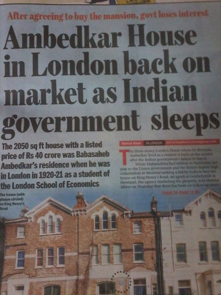 Dr. Ambedkar's house in London on sale – Shame on Indian ...