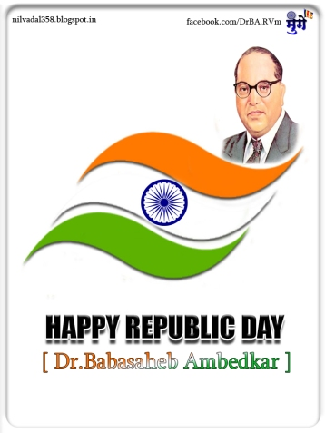 happy republic day-indian flag-logo-Dr babasaheb ambedkar-ashok chakra buddhism