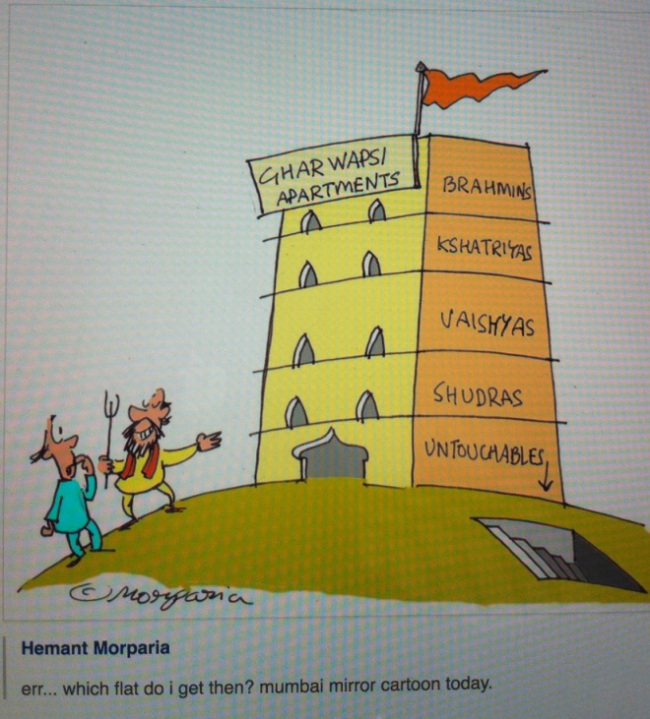 Cartoon from Mumbai Mirror