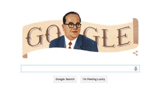 Google Doodle on Dr. Ambedkar