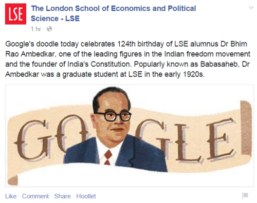 LSE remembers Dr. Ambedkar
