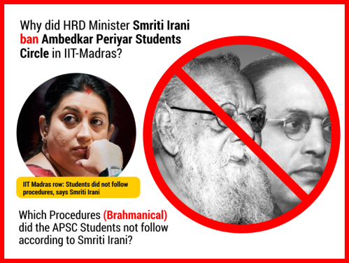 Ambedkar Periyar Student Circle at IIT Madras is Banned.