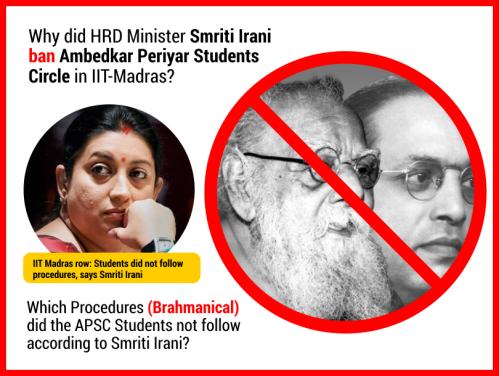 Ambedkar Periyar Student Circle at IIT Madras is Banned.