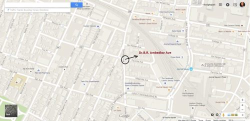 [Google Map] Dr. B. R. Ambedkar avenue on Tonnele and Pavonia intersection, New Jersey City, USA