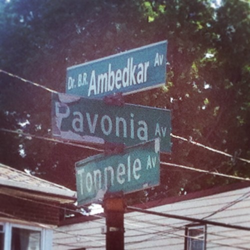Dr. B. R. Ambedkar avenue on Tonnele and Pavonia intersection, New Jersey City, USA