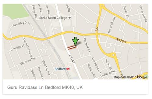 Guru Ravidas Lane, Bedford, UK (Google Maps)