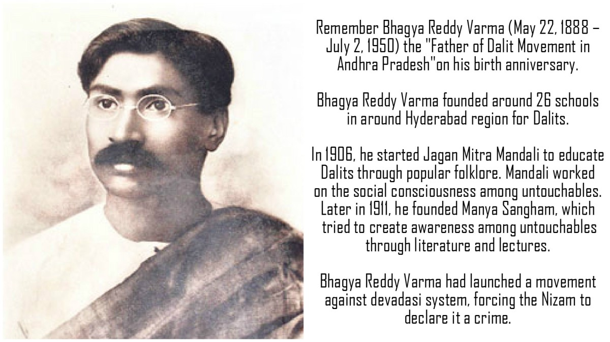 22nd May in Dalit History - Birth anniversary of Bhagya Reddy Varma (Madari Bhagaiah)