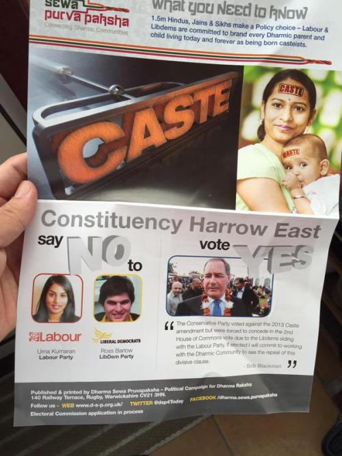 Caste in UK elections