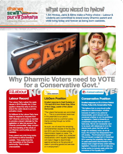 Caste in UK election