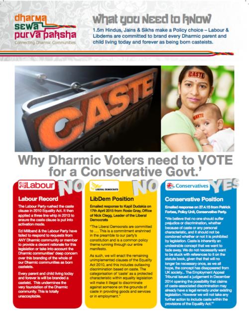 Caste in UK election