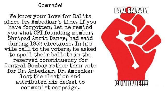 Communists and Dr. Ambedkar