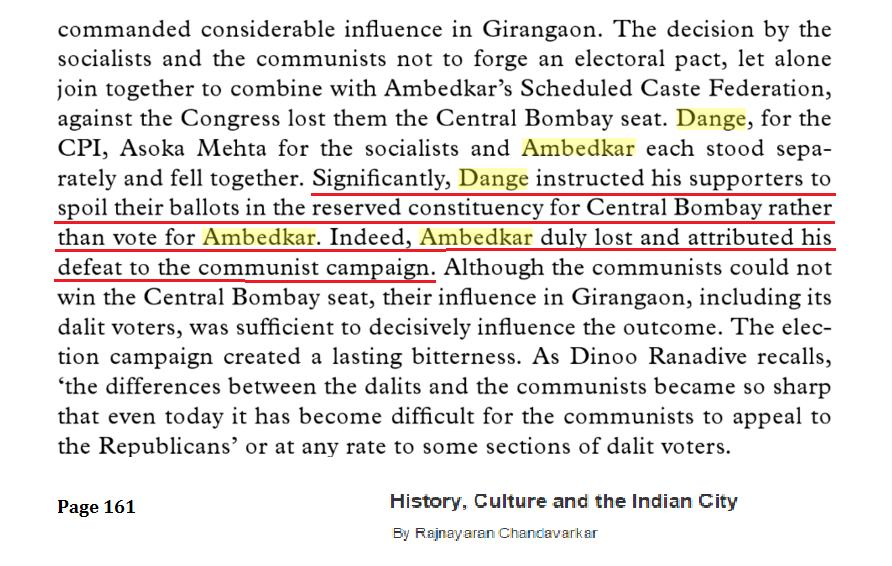 CPI Against Dr. Ambedkar