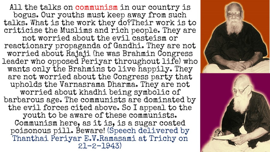Periyar on Communism, Ganghi