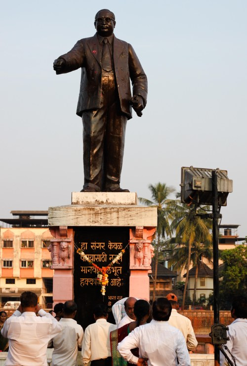 Statue of DR. B.R. Ambedkar at Chavdar Tale Mahad Mahad Satyagraha