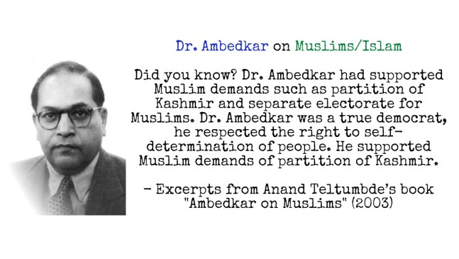 Dr. Ambedkar on muslims and islam