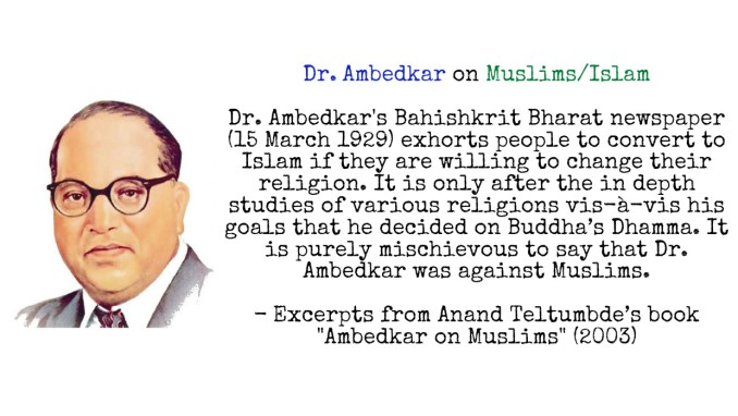Dr. Ambedkar on Muslims