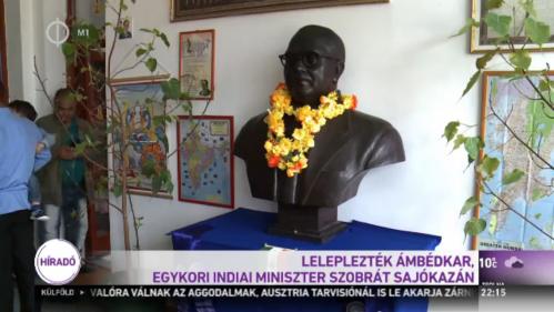 Dr. Ambedkar's statue at Sajokaza, Hungary