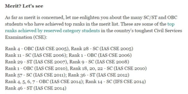 What Merit? List of SC/ST/OBC top ranks achievers in IAS examination